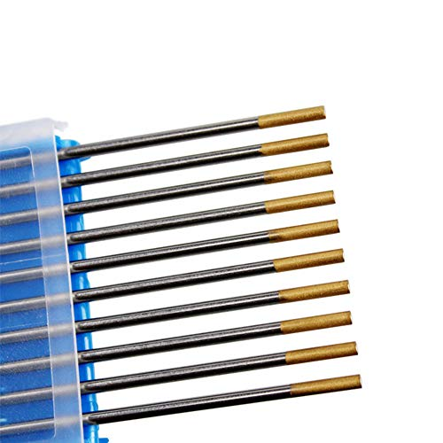 Tanstool - Electrodo de tungsteno, soldadura con arco bajo argón, aguja de tungsteno de 1,5 % Lanthana-tungsteno, para máquina de soldadura TIG, WL15 (D'oro) 1,6 x 150 mm