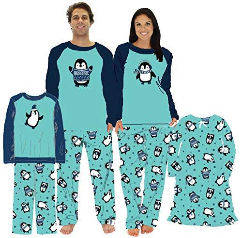Our Family Pjs Conjuntos de Pijamas de Pijama de pingüino a Juego para Vacaciones (OFP-6500-K-EU-3T)