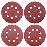 YTBUBOR 80 Pieces <span class='highlight'>Sanding</span> Discs 40/60/80/120 Assorted Grits Sandpaper Hook and Loop 8 <span class='highlight'>Hole</span>s <span class='highlight'>125</span><span class='highlight'>mm</span>(5 Inch) Discs <span class='highlight'>Pad</span>s for Random Orbital Sander