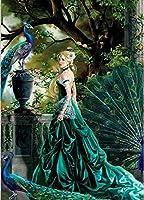 数字によるDIY油絵動物孔雀ペイント数字によるDIY絵画アクリル絵具絵画キットホームウォールリビングルーム寝室の装飾40×50cm