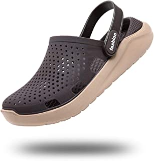 Zuecos Sanitarios Mujer Hombre Enfermera Zapatillas de Estar en Casa Goma Chanclas Piscina Jardín Plastico Verano Sandalias Zapatos Playa Ducha Negro Azul Gris Rojo Blanco 36-45 EU
