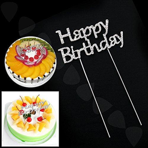 Happy Birthday Gâteau Décoration Brillant Diamante Gâteaux Topper Crystal Fête d'anniversaire Décor