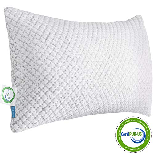 Our #1 Pick is the Kunpeng Shredded Memory Foam Bed Pillow