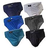 6-12 Slips Herren Unterhosen Männer Slip Unterwäsche Unterhose Sportslip Männerslips Schlüpfer aus Baumwolle (4XL, 6.Stück 580), Herstellergröße 11