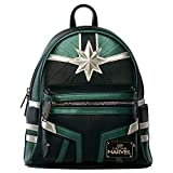 Loungefly x Captain Marvel Green Training Suit Mini Backpack (One Size, Multicolored)