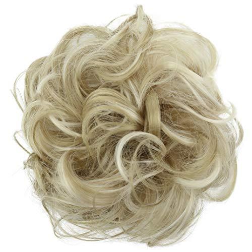 PRETTYSHOP Haarteil Haargummi Hochsteckfrisuren Brautfrisuren Voluminös Gelockt Unordentlich Dutt Hellblond Mix G37A