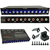 Gravity EQ19 1/2 Din 9 Equalization Bands Band Car Audio Equalizer EQ Front, Rear + Sub Output 9V with Three Stereo RCA Output/Built-in Input AUX/DVD Select Switch