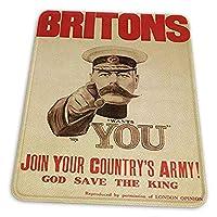 ゲーミングマウスパッド - リーテ戦争第一次世界大戦英国キッチナー英国人の象徴的な広告 マウスパッド おしゃれ ゲームおよびオフィス用/防水/洗える/滑り止め/ファッショナブルで丈夫 25x30cm