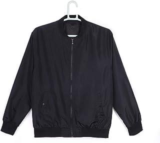 Bailunmuzi Men's Lightweight Front-Zip Athletic Casual Jacket