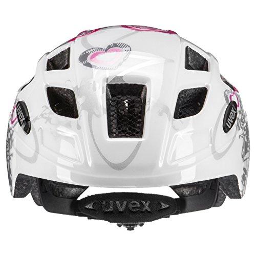 Uvex Kinder Finale Junior Mountainbikehelm, Mehrfarbig (Heart White pink), 51-55 cm - 2