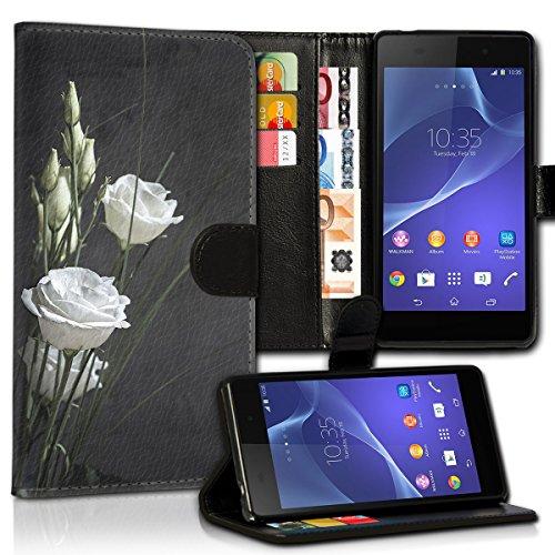wicostar Book Style Huawei Ascend G525 Premium PU-Leder Tasche Flip Brieftasche Handy Hülle Kartenfächer mit Standfunktion für Huawei Ascend G525 - Design Flip MVC108