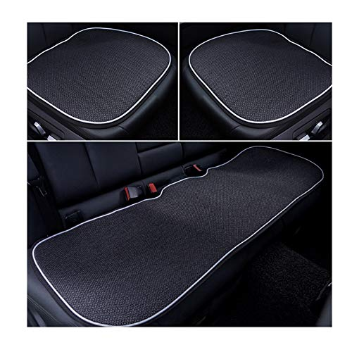 DXX-HR Cojín de Coche Monolithic Four Seasons Cojín de Asiento de Invierno Universal Single Butt Pad Alfombrilla de Coche Traje de Tres Piezas
