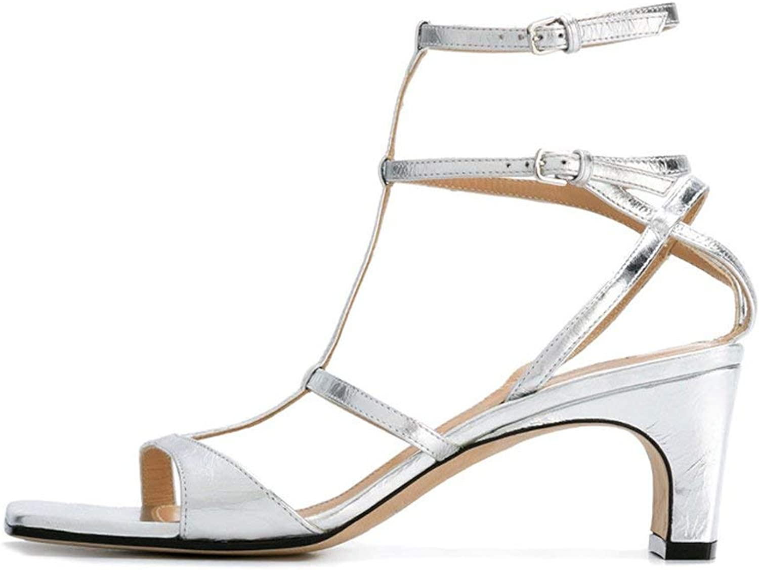 Comfortable and beautiful ladies sandals Sandals Plastic Summer Female Fashionen Silver High Heels
