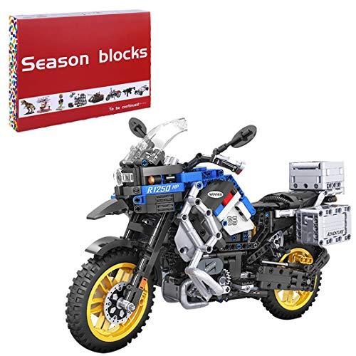 Bybo Technik Motorrad für BMW R 1250 GS Adventure, Supermotorrad, Technik Rennen Motorrad Modell, 948 Klemmbausteine Kompatibel mit Lego Technic