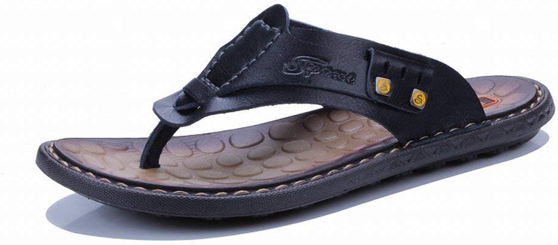 Fuxitoggo Men's Sandals Fashion Handstitched Casual Men's shoes Men's shoes (color   Black, Size   43)