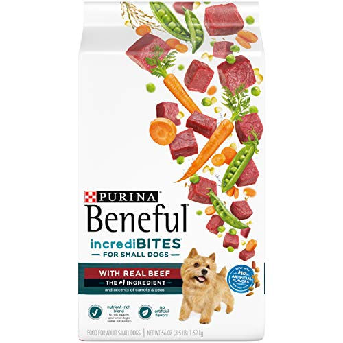 Purina Beneful Small Breed Dry Dog Food IncrediBites With Real Beef  4 35 lb Bags