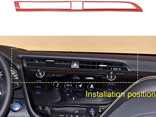 Fit For 2018-2020 Toyota Camry ABS Red Inner Steering Wheel Decor Frame Trim 3P