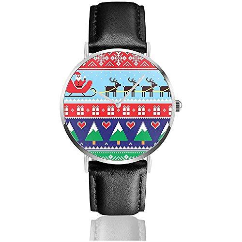 Montres au Poignet Montre à Quartz - Pull ou Pull de Noël Montre-Bracelet Minimaliste à la Mode pour Hommes