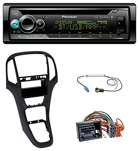 caraudio24 Pioneer DEH-S520BT CD USB Bluetooth AUX MP3 Autoradio für Opel Astra J ab 2009 Perl schwarz