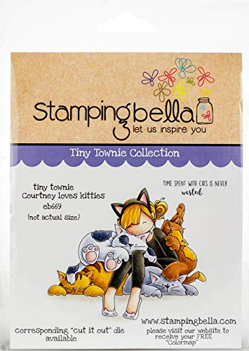 Stamping Bella Cling Stamps - Tiny Townie Courtney Loves Kitties EB669
