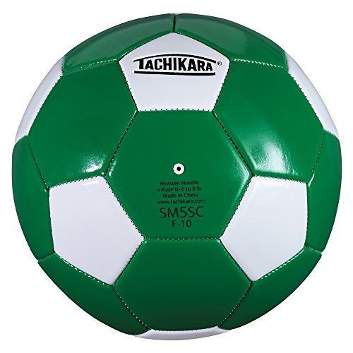 Tachikara SM5SC Soccer Ball (Size 5), Kelly/White