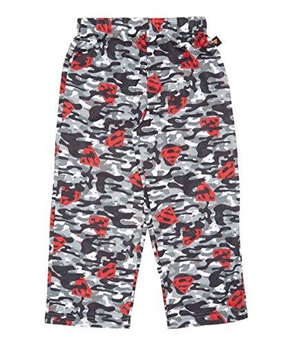 DC Comics Boys' Little Superman Camo Pajama Sleep Pants, Multi, 6/7