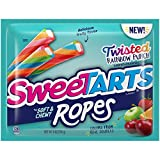 Taste & texture candy surprise: soft & Chewy with a tangy, Cherry punch flavored filling, SweeTARTS Ropes explode with a mouthwatering maze of texture & Taste that makes candy lovers go crazy. Try them all: we've come a long way from the original Swe...
