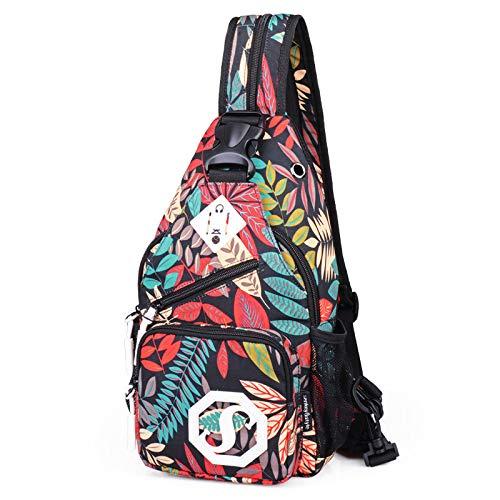 CMZ Umhängetasche Dual Purpose Umhängetasche USB Brusttasche Mädchen Oxford Stoff Tasche Modetrend Umhängetasche