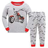 Boys Pajamas Cotton PJS Toddler Sleepwear Bottoms Sets Clothes for Kids Size 1 2 3 4 5 6 T (3-4T, 1#harley motorcycle)