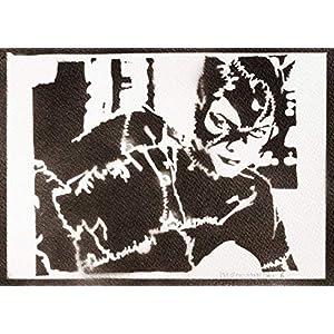 Catwoman Poster Plakat Handmade Graffiti Street Art – Artwork