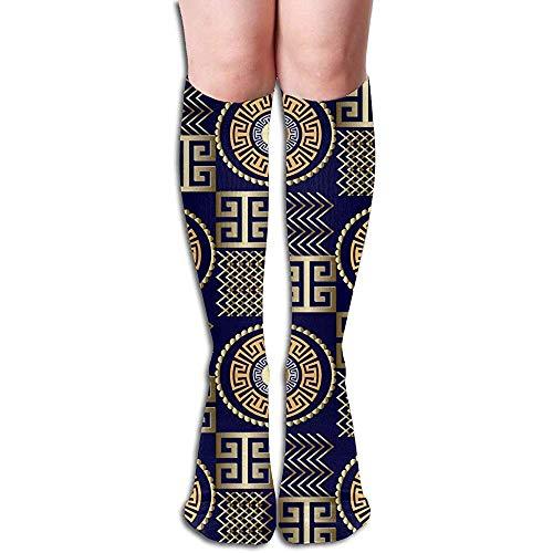 Modelo inconstil griego moderno 3D.Vector de fondo geomtrico estampado hombres y mujeres calcetines hasta la rodilla de compresin