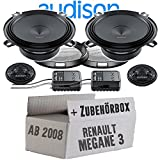 Audison APK-130-13cm Lautsprecher System - Einbauset für Renault Megane 3 - JUST SOUND best choice for caraudio