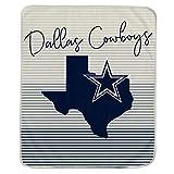 Pegasus Sports NFL Ultra Fleece State Stripe Blanket- Dallas Cowboys