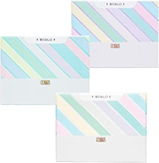臭わない袋 BOS (ボス) ストライプパッケージ/3色セット(白・ミントグリーン・ラベンダー)Sサイズ30枚入× 各1セット