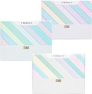 臭わない袋 BOS (ボス) ★ストライプパッケージ/3色セット(白・ミントグリーン・ラベンダー)★Sサイズ30枚入× 各1セット