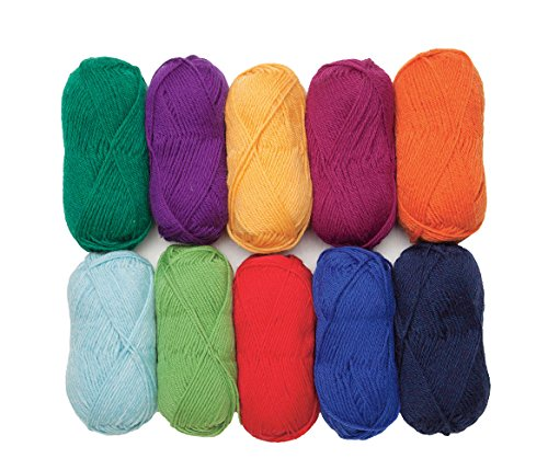 Knit Picks Wool of The Andes Worsted Weight Yarn (10 Balls - Rainbow)