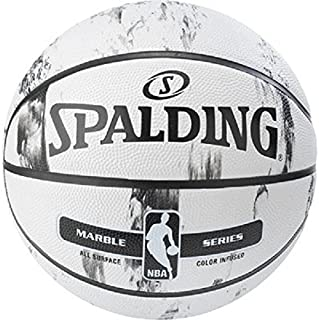 SPALDING NBA 大理石 BW/MC Out SZ 7和5篮球户外不同 种颜色