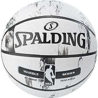 SPALDING NBA 大理石 BW/MC Out SZ 7和5籃球戶外不同 種顏色
