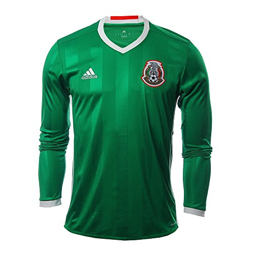 Adidas Mexico 2016 Long Sleeve Home Green/Red/White Jersey-XXL