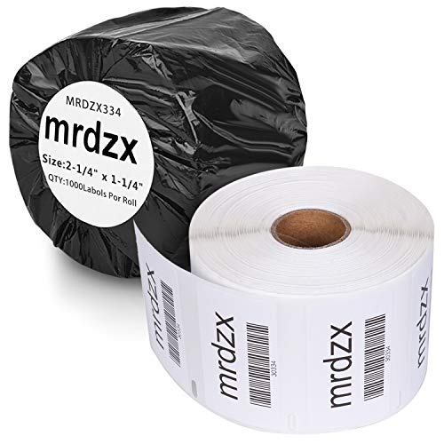 """2 Rolls Compatible Dymo 30334 Multipurpose Labels, 2-1/4"""" x 1-1/4"""" Medium Barcode/FNSKU/UPC/Replacement Labels for Labelwriter 450, 4XL & Zebra Printers,1000 Labels Per Roll"""