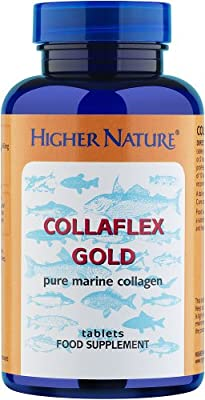 Higher Nature Collaflex Marine Collagen Supplement, Gold Pure - Pack of 90 Tablets