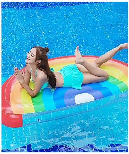 La inflación seguro, material de protección del medio ambiente, Flotador inflable, anillo inflable fila arco iris de medio punto flotante inflable de PVC suministros parque acuático de la cama flotant