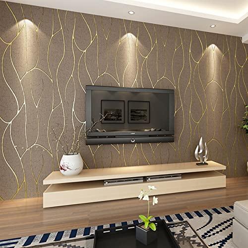 ketian moderno Simple 3d imitación de ciervo papel pintado para pared para salón o TV fondo Diamond Celosía Patrón rollo de papel de pared marrón oscuro 0.53m x10m=5.3m2