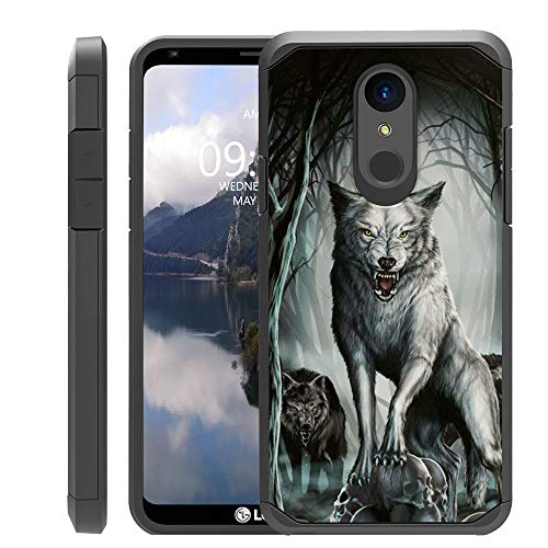 UNTOUCHBLE Case Compatible with [LG Stylo 4, LG Q Stylus (2018) Cover ] Shockproof Dual Layer Reinforced Protection Case - Midnight Wolf