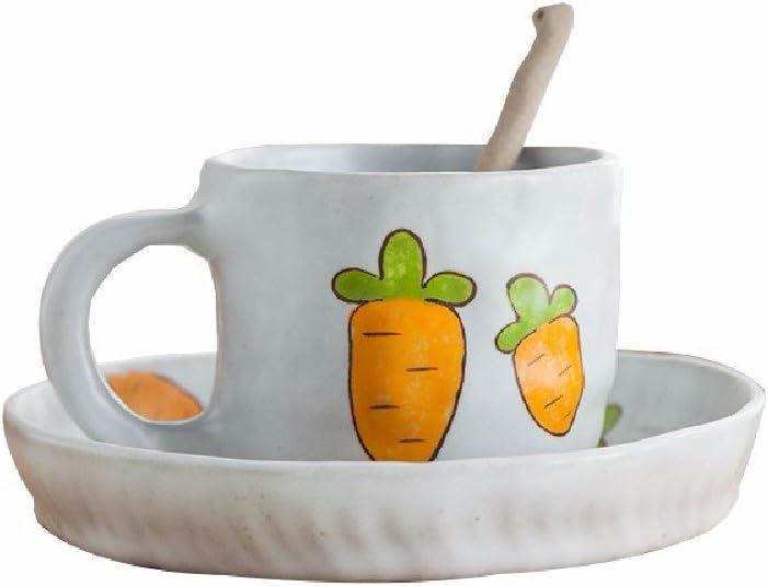 safety HQLCX Japanese Creative Purchase Mug Bowl Cartoon Set Ceramic Spoon Coffe