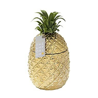 Talking Tables Emporium Gold Pineapple Ceramic Ice Bucket, H30 x W16cm