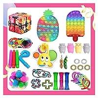 Fidget Pack、Sensory Fidget Toy、大理石のメッシュポップ不安チューブはストレス不安フィジットパックが子供大人のための安いストレスの不安フィジットパックを和らげます (Color : Fidget Packs-7)