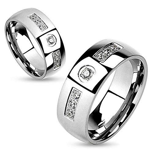 Anillo De Diamantes De Imitación Blanco De Moda Simple Para Hombre Adecuado Para Compromiso Joyería De Banda De Boda 8