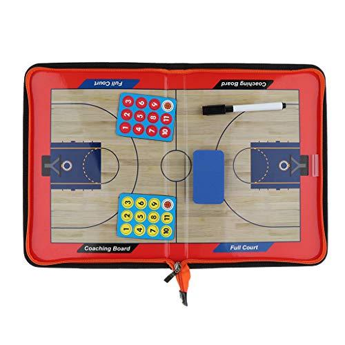 Pizarra de Fútbol/Baloncesto para Entrenador de Aluminio, Material para Entrenamiento de Estrategia Táctica con Ganchos para Pared - fútbol, 45x30cm