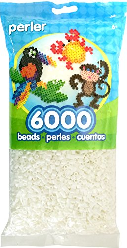 Price comparison product image Perler Beads Fuse Beads for Crafts,  6000pcs,  White